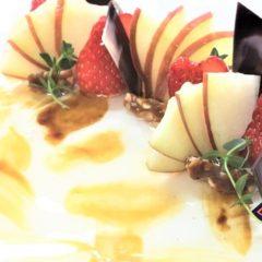 リンゴのシブーストとキャラメルクリーム(特注)